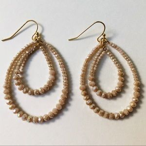 Jewelry - Beaded teardrop dangle earrings
